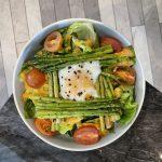 Grill Asparagus and Egg Salad